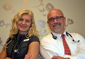 Dr. Lauren Vigna and David Hattenbrun, FNP-C
