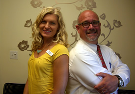 Dr. Lauren Vigna and David Hattenbrun, FNP-C