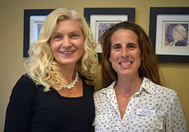 Dr. Lauren Vigna and Jennifer Barresi, FNP